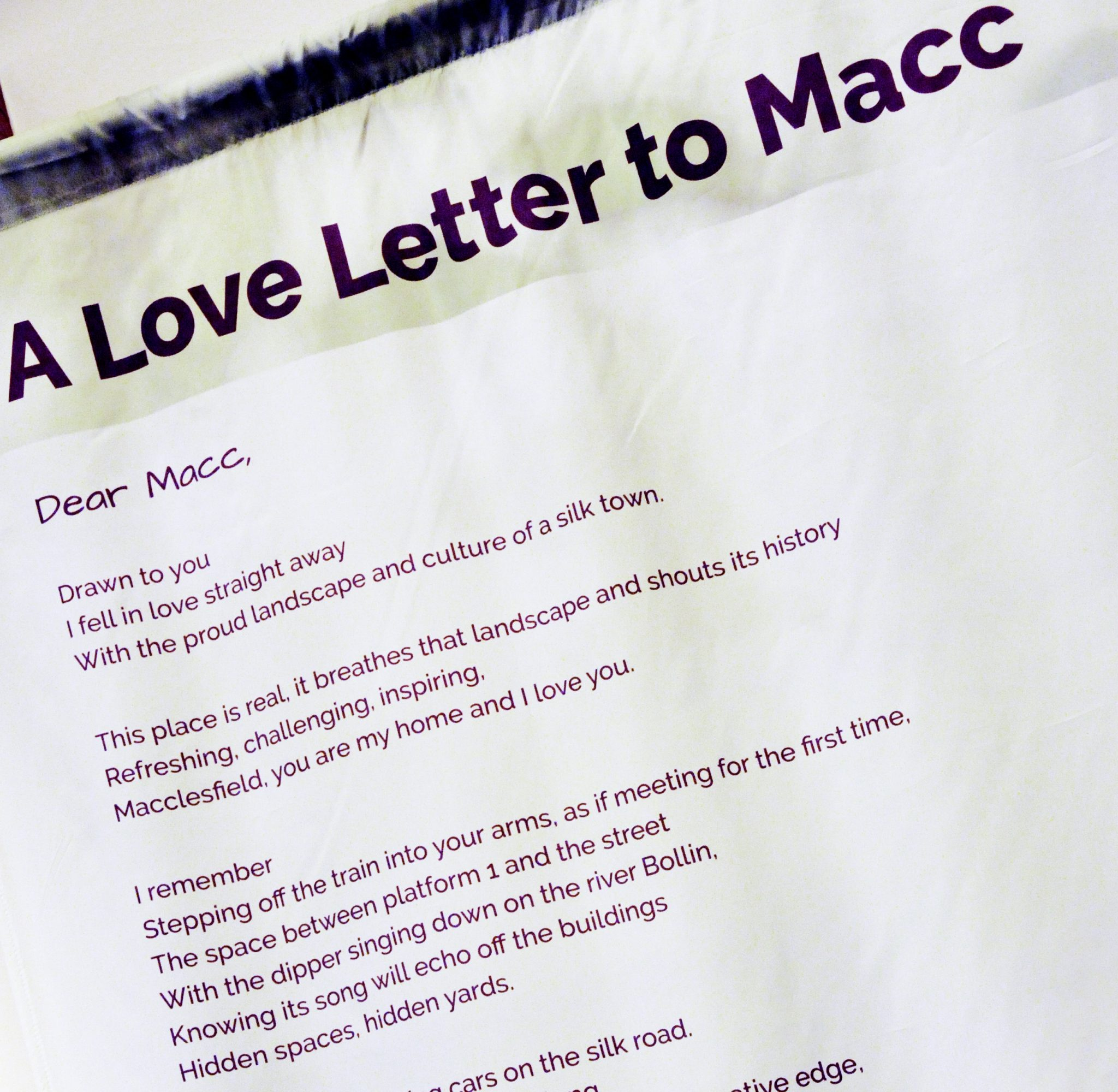 Love Letter To Macc Unveiled